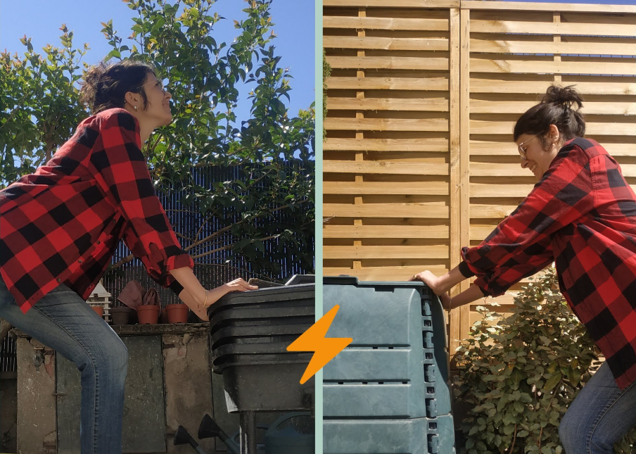 Stéphanie, bénévole à MZD et composteuse tout terrain